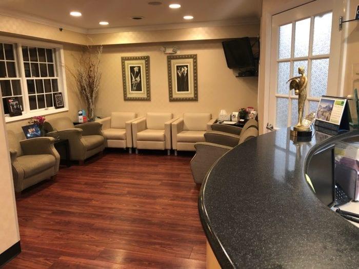Rockland County NY dentist office lobby